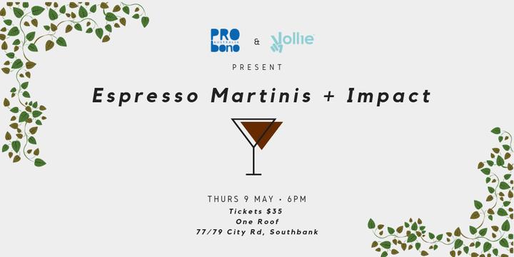 Espresso Martinis + Impact Event Banner
