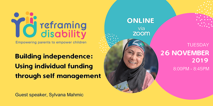 Building independence: Using your individual funding through self-management Event Banner