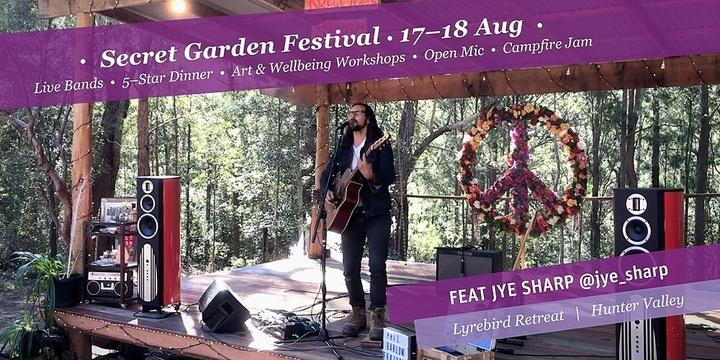 Secret Garden Festival – Lyrebird Retreat –August 17 Event Banner
