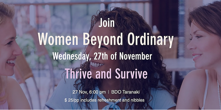 Thrive and Survive - Learning to live your life - Event Banner