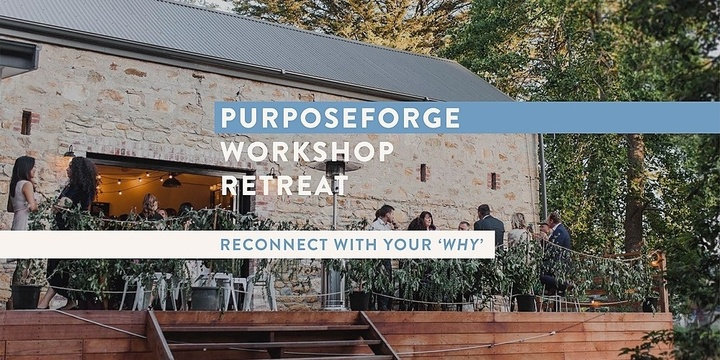 Good Academy Purposeforge Workshop Retreat Event Banner