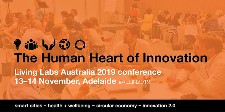The Human Heart of Innovation – Living Labs Australia 2019 conference Event Banner