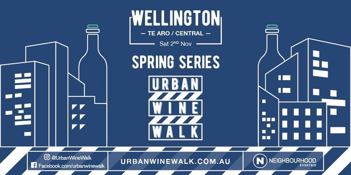 Urban Wine Walk Wellington (Te Aro / Central) Event Banner