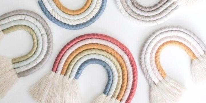 Mini Rainbow Wall Hanging Workshop Event Banner