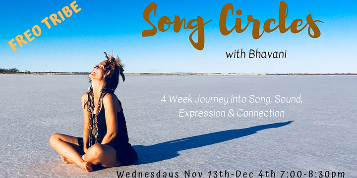 Song Circles with Bhavani Naea- FREO TRIBE Event Banner