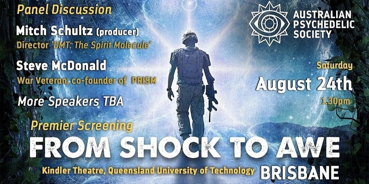 'From Shock to Awe' Premier Screening - Brisbane Event Banner