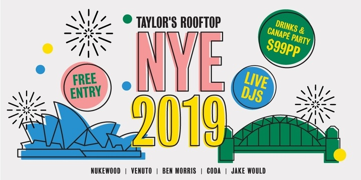 New Years Rooftop Party 2019 Event Banner