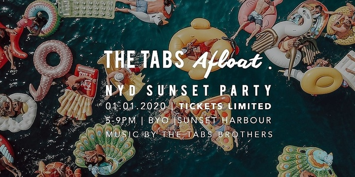 The Tabs Afloat | NYD SUNSET PARTY Event Banner