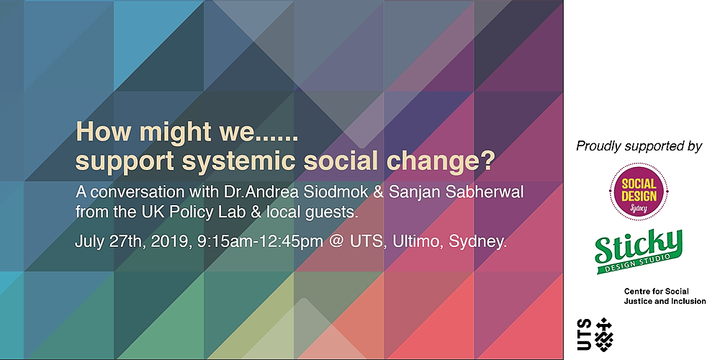 How might we support systemic social change? Event Banner