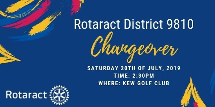 Rotaract District 9810 Changeover Event Banner