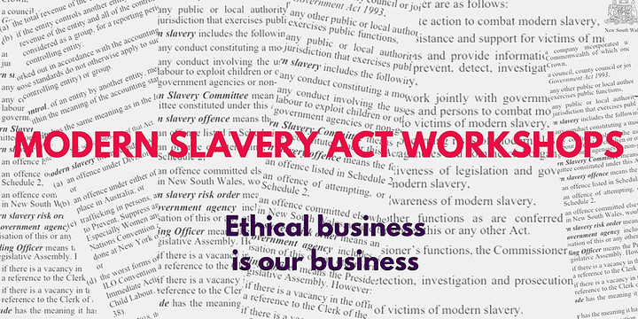 Ethical Business and Modern Slavery Act Workshop Event Banner