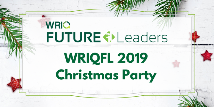 WRIQ Future Leaders Mentor Checkup and Christmas Party Event Banner