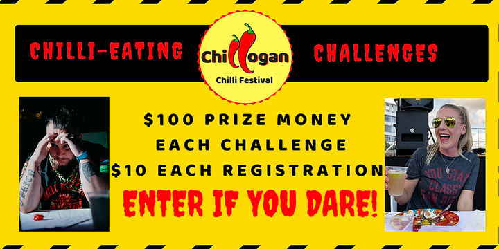 Chillogan Chilli Eating Challenges 2019 Event Banner