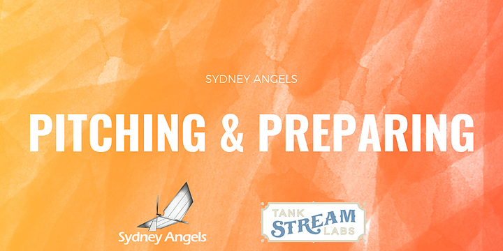 Sydney Angels Pitching and Preparing Event Banner