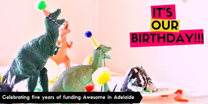 Awesome Adelaide 5th Birthday Pitch Night Event Banner
