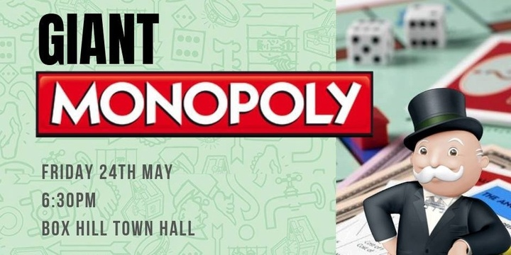 Whitehorse Rotaract Presents: Giant Monopoly Event Banner