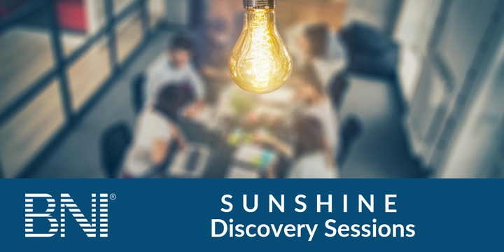 BNI Sunshine Discovery Sessions Event Banner