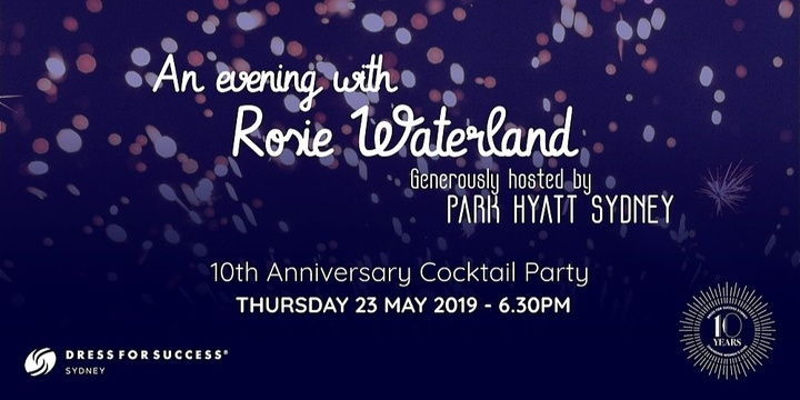 An evening with Rosie Waterland Event Banner