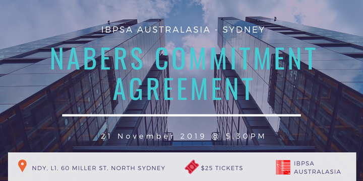 IBPSA Australasia - Sydney Forum - NABERS Commitment Agreement Event Banner