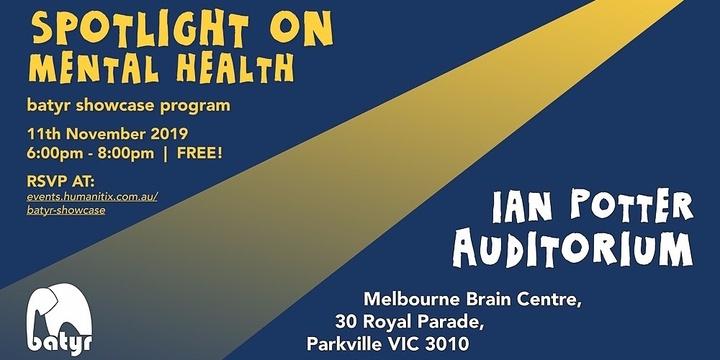 Spotlight on mental health:  batyr showcase program Event Banner