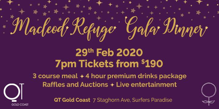Macleod Refuge Gala Dinner Event Banner