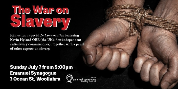 The War On Slavery - a panel discussion Event Banner