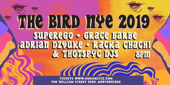 The Bird NYE 2019 Event Banner