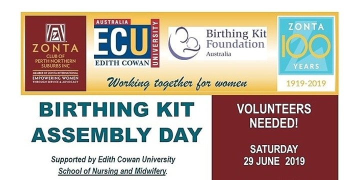 Birthing Kits Assembly Day Event Banner