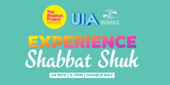 Shabbat Shuk - 2019 Shabbat Project Sydney Event Banner