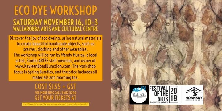 Eco Dye Workshop - Studio ARTES ALL IN Event Banner