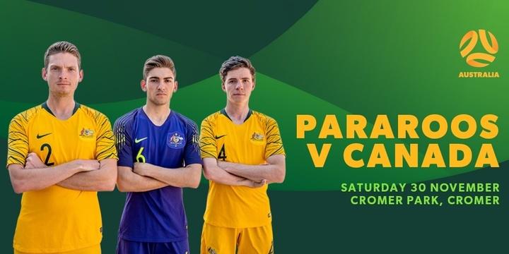 Pararoos v Canada Event Banner
