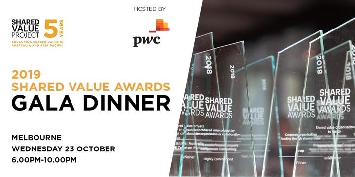 2019 Shared Value Awards Gala Dinner Event Banner