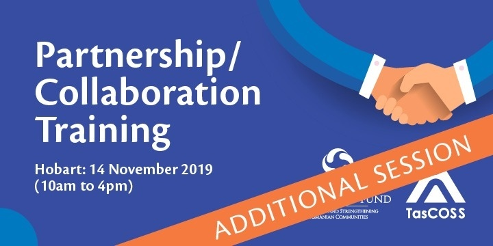 Partnership/Collaboration Training - Hobart - NEW Session Event Banner