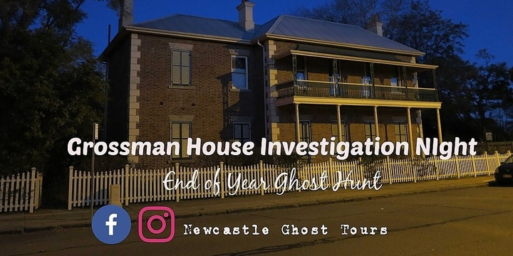 Grossman House End of Year Ghost Hunt Event Banner