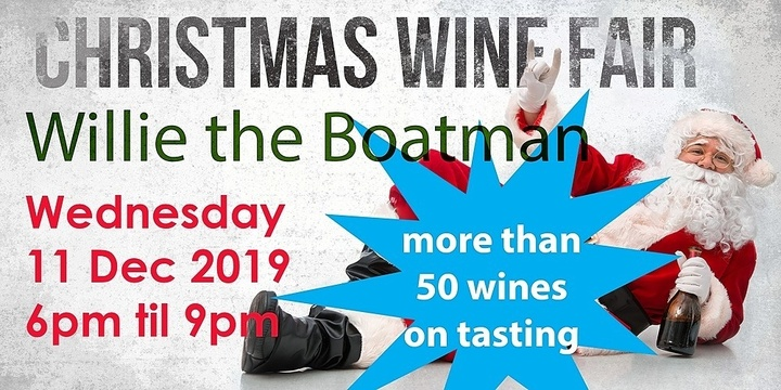 Christmas Wine Fair   50+ Wines just right for Christmas Event Banner