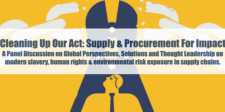 Cleaning Up Our Act: Supply and Procurement for Impact Event Banner