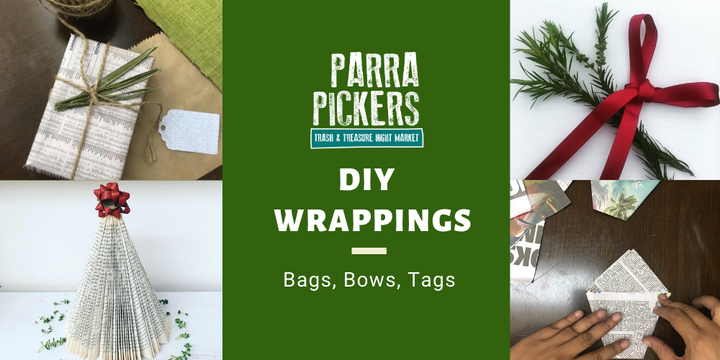 Christmas Wrapping Workshop - Parra Pickers December 2019 Event Banner