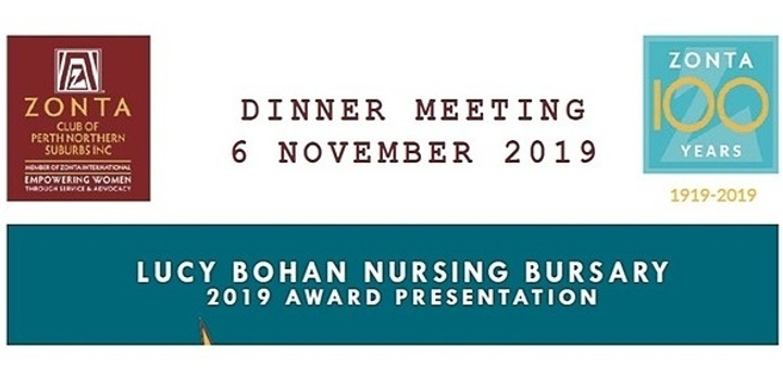 Zonta Club of Perth Northern Suburbs November Meeting Event Banner