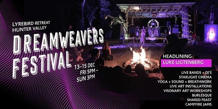 Dreamweavers Festival – Lyrebird Retreat Event Banner