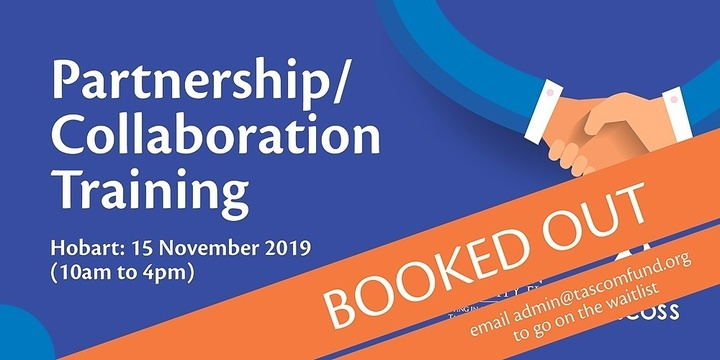 Partnership/Collaboration Training - Hobart Event Banner