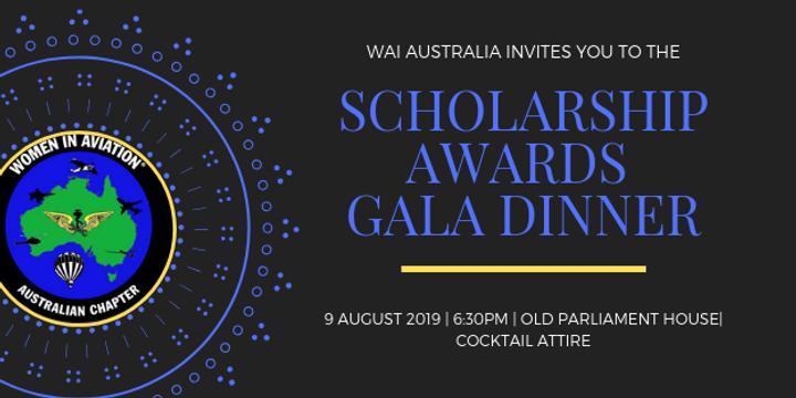 WAI Australia Scholarship Awards Gala Dinner 2019 Event Banner