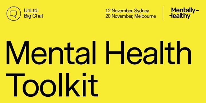 Big Chat Mel - Your Mental Health Toolkit Event Banner