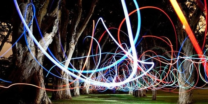 The Big Draw After Dark: Light Painting with Peter Solness Event Banner