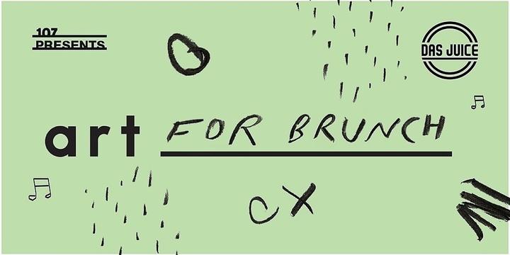 107 Presents: Art for Brunch Event Banner