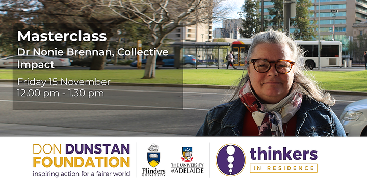 Masterclass: Collective Impact with Dr Nonie Brennan Event Banner