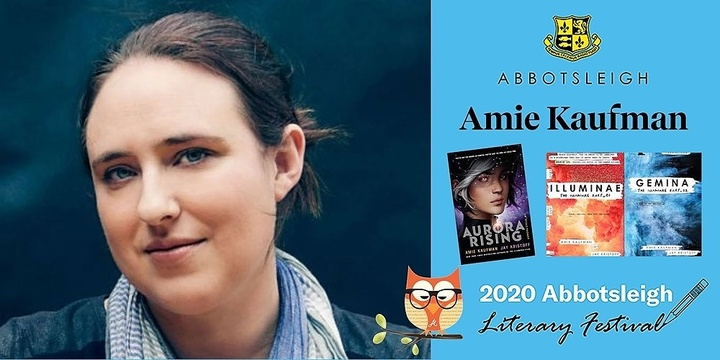 2.05pm Session - Amie Kaufman at the Abbotsleigh Literary Festival 2020 Event Banner
