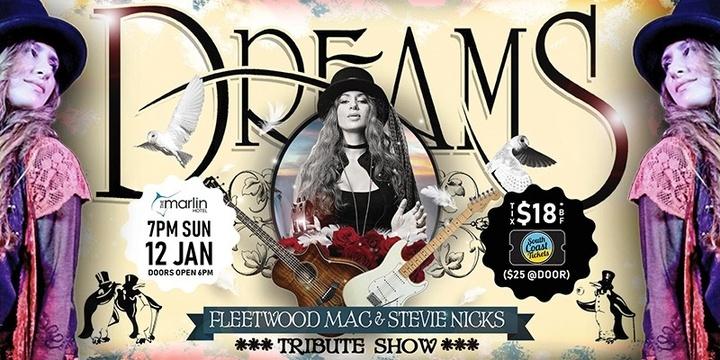 Dreams - Fleetwood Mac & Stevie Nicks Tribute Show - Ulladulla Event Banner