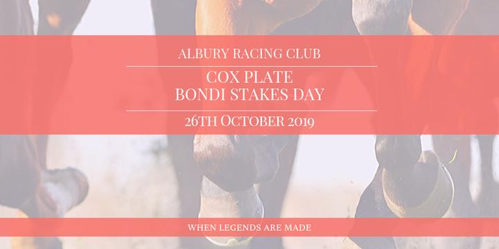 Albury Racing Club - Cox Plate & Bondi Stakes Day Event Banner