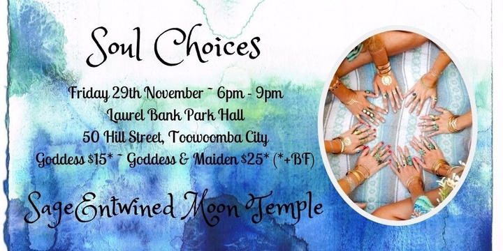 SageEntwined Moon Temple ~ November New Moon Circle ~ Soul Choices Event Banner