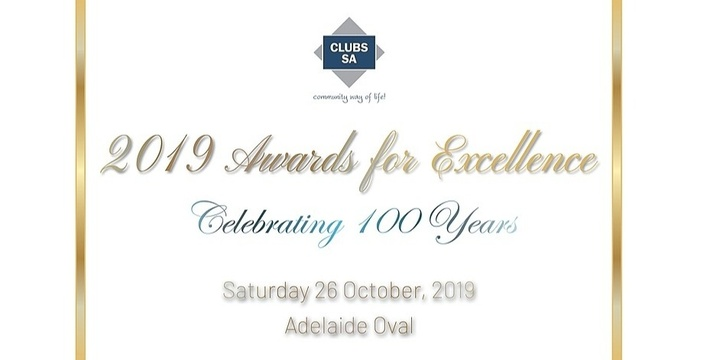 Clubs SA 2019 Awards for Excellence - 100th Anniversary Celebration Event Banner